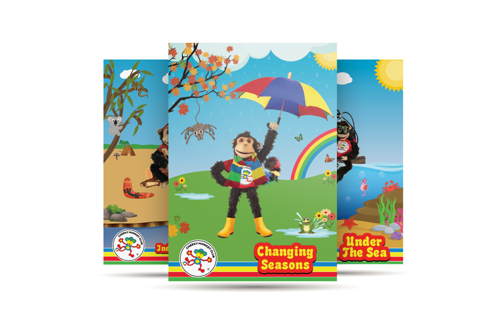Cheeky Monkey A3 Posters