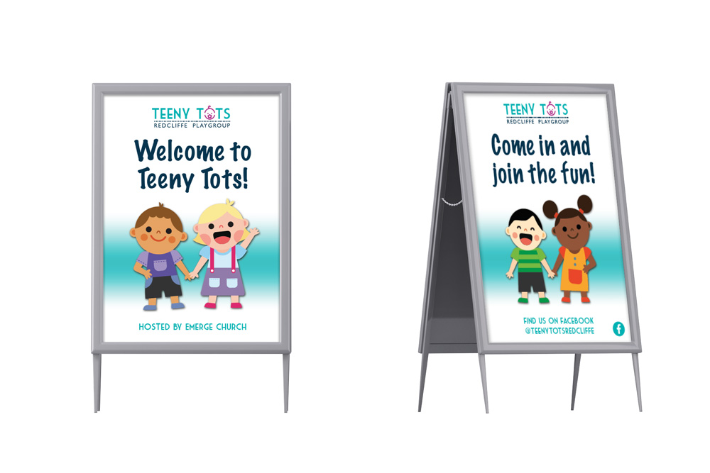 Teeny Tots A frame signs